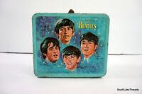 Vintage 1965 Aladdin THE BEATLES Metal Lunch Box John, Paul, George & Ringo