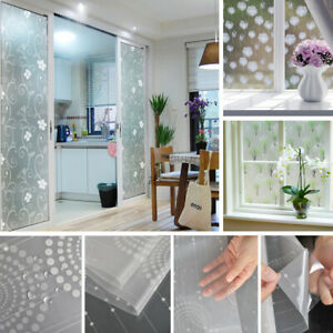 17x78inch Frosted Glass Film Home Bedroom Bathroom Window Privacy Sticker Decal