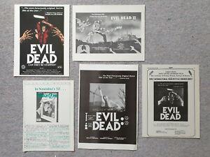 The Evil Dead & Evil Dead II Rare Press Materials