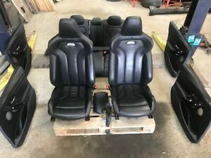 16 BMW F80 F30 M3 4DR BLACK LEATHER INTERIOR SEATS DOOR PANELS HEATED 15-19 32K