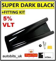 CAR WINDOW TINT FILM TINTING SUPER DARK BLACK  LIMO 5% 50cm x 3M