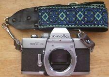 Minolta Srt 101 35mm Slr film camera with hippie strap. Tested.