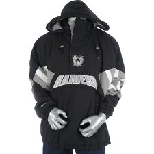 MITCHELL AND NESS Black/Silver Mens Oakland Raiders Flashback Jacket *SIZE M