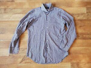 Kamakura Maker's Shirt 16 - 35 brown gingham PRISTINE CONDITION shirt