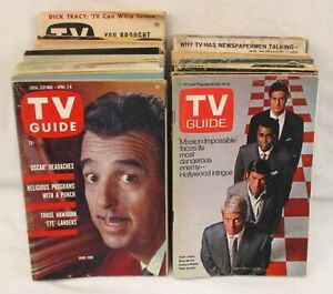 Lot of 30+ Vintage TV Guide Magazines Early 1950s to Late 1960s