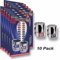 10 for $25 Deal - Socket Labels - Tough Chrome Foil Labels for Sockets & Tools