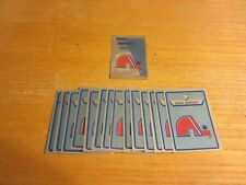 Quebec Nordiques Lot of 15 Foil Logo Hockey Stickers NHL