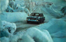 Advertising Postcard 1970 FIAT 124 - on winter road