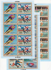 Ajman 1970 Winter Olympic, Sapporo 1972, MNH, 3 perf. sheets