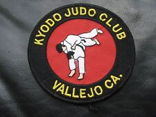 KYODO JUDO CLUB EMBROIDERED SEW ON PATCH MARTIAL ARTS UNIFORM VALLEJO CA 4""