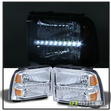 2005-2007 Ford F250 F350 F450 F550 Superduty Led Headlights Headlamps Pair 2006