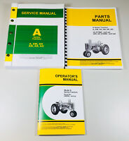 SERVICE MANUAL SET JOHN DEERE A AW AH AN AR AO TRACTOR OPERATORS PARTS REPAIR