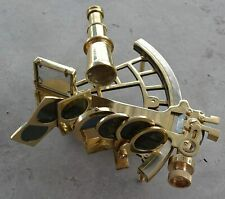Nautical Sextant Navigation Working Functional Original Antique Brass Nautical