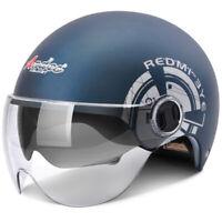 Motorcycle Half Helmet Dual Sun Visor Motorbike for Motor Scooter Helmet Safety