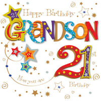 Grandson 21st Birthday Greeting Card By Talking Pictures Greetings Cards