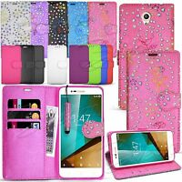 For Vodafone Smart Prime 7 -Wallet Leather Case Flip Cover + Stylus