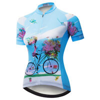 Women's Cycling Jersey Clothing Bicycle Sportswear Short Sleeve Bike Shirt  D13