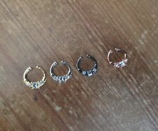 4 Septum Ring Non Piercing Clip-On Fake Nose Ring  Gold Black Silver Pinkgold#10