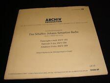 """BACH°PASSACOGLIA<>HELMUT WALCHA<>(10"""")33 Rpm Vinyl~Germany Pressing<>ARCHIV13028"""