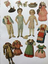 Antike Mode Püppchen Ankleide Oblaten Puppe, um 1900