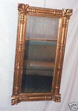 American Antique ISAAC PLATT Classical Giltwood Gesso Pier Mirror 1815-1835 ORG.