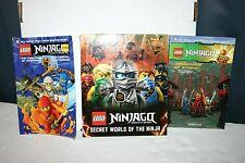 LOT (3) Lego Ninjago  Secret World of Ninja, The Challenge of Samukai, Warriors