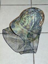 OUTDOOR CAP Mossy Oak Camo Snapback Hunting Hat w/ Netting Face Mask