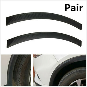 2x Carbon Fiber Look Car Wheel Eyebrow/Bumper Rubber Protector Strip AntiScratch