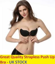 Silicone Self Adhesive Stick On Push Up Gel Strapless Invisible Bra Backless C