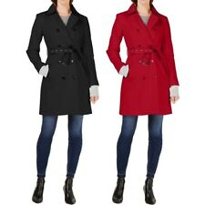 INC NEW Women's Cotton Double Breasted Belted Trench Coat Jacket Top TEDO
