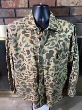 Vintage Caliber Hunting Fishing Camo Camoflage Button Shirt Mens Size Large Vtg