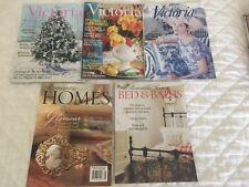 Lot of 5 magazines Victoria 1995 2001 2003 Romantic Homes 2007