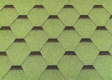 Dachschindeln Hexagonal Dreieck Form 21 m? Grün (7 Pakete) Schindeln Dachpappe