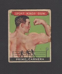 1933 GOUDEY SPORT KINGS GUM PRIMO CARNERA #43 POOR CONDITION
