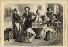 1858 français et anglais des marins à Cherbourg bonne double BIERE