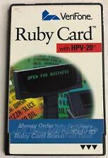 VeriFone Ruby Car Wash Bravo PLU Card- P040-07-506