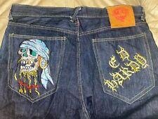 "Ed Hardy Jean Shorts, Pirate Skull, Waist 40"" Inseam 15"""
