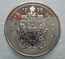 1998 CANADA 50 CENTS PROOF-LIKE HALF DOLLAR COIN