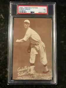 1939-46 Salutation Exhibits,Lefty Grove,A's & Red Sox,PSA 5 HOF