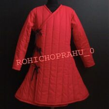 Thick padded red zig zag Gambeson play movies theater custom Medieval armor Scx7