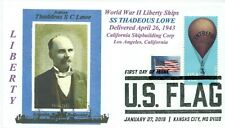 THADDEUS LOWE Liberty Ship named for Civil War Balloonist Portrait Pictorial PM