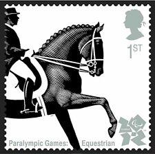 Equestrian Dressage on 2010 stamp