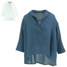 Shirt Top Blouse Casual Womens BOHEMIA SWEDEN Short Sleeves Collar