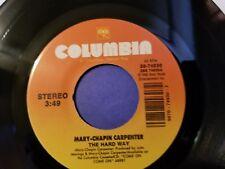 MARY-CHAPIN CARPENTER / Goodbye Again - The Hard Way / 45rpm Vinyl Record