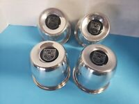 4 ALUMINUM  CAPS 6 LUG  CENTERLINE  WHEELS CAL-102 4.25 OD  W/ VINTAGE