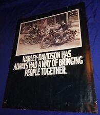 BH1171 Vtg Harley Davidson Dealer Sales Brochure Accessories 1987