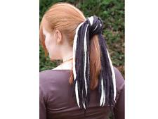 Black and Blonde white dreadlocks - 16 Handmade felted merino wool dreads