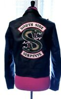 Riverdale Southside Serpents Womens 100% Synthetic Leather Jacket Size Medium