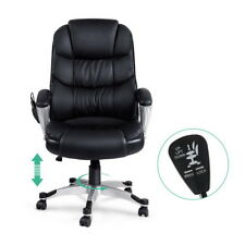 8 Point PU Leather Reclining Massage Chair Black