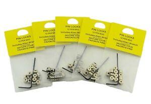 60 Pieces Pin Keepers Pin backs Locks Locking Pin Backs Allen Wrench USA 5mm